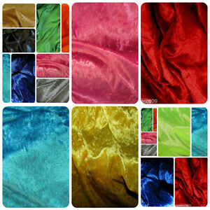"Top Quality Crushed Velvet Velour 60/"" Wide Dress//Crafts Fabric *17 Colours* NEW"