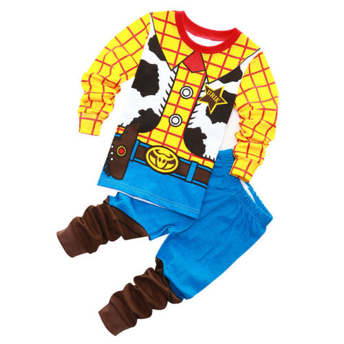Details about  /2PCS//SET Kids Boys Baby Woody Pyjamas Sleepwear Pj/'s Pajamas Matching Sets 1-8Ys