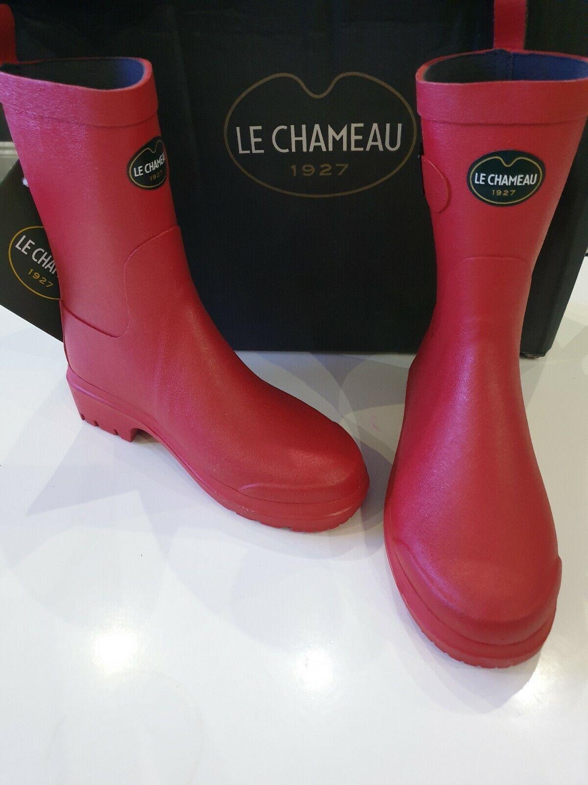 Le Chameau  Low Boot II  size 36 Wellington Boots red Vermillon