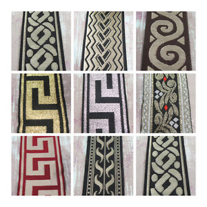 1-METRE-PATTERNED-EMBROIDERED-FABRIC-RIBBON-8-STYLES-5-WIDTHS-TRIMMING-UK