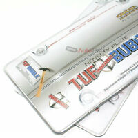 2 Clear Tough Bubble License Plate Tag Frames Cover Shield for Auto-Car-Truck