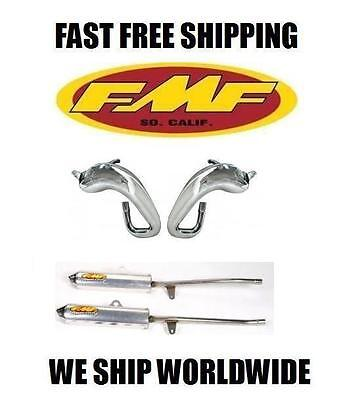 NEW PAIR FMF FULL FATTY EXHAUST PIPE & POWERCORE 2 SILENCERS YAMAHA BANSHEE 350