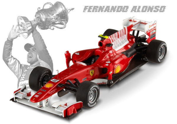 Hot Wheels Elite F1 Ferrari F10 Alonso  8 2010 1 18