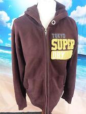 Superdry™ men's brown Double Blacklabel Destroyed Fleece hoodie *21w 28l large*