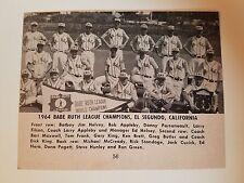 El Segundo California 1964 Baseball Team Picture