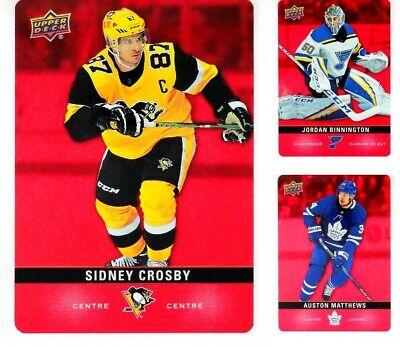 2020-21 UD Tim Hortons Hockey Rojo Die Cut para elegir de la lista combinar el envío