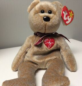 ce5773e6d57 Image is loading 1999-Signature-Bear-TY-Beanie-Baby-Polyester-Fiber-