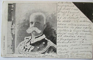 Italy-Noble-King-Umberto-I-Mourning-Card-1900