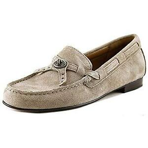 Coach-Kara-Womens-Stone-Suede-Slip-On-Loafer-Shoes-size-5-5