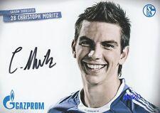 Christoph MORITZ + FC Schalke 04 + Saison 2009/2010 + Autogrammkarte +
