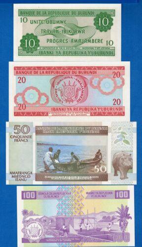 P-33 P-36 Burundi P-27 P-44 Uncirculated Banknotes SET #6