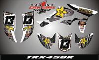 Honda Trx 450r Atv Semi Custom Graphics Kit White