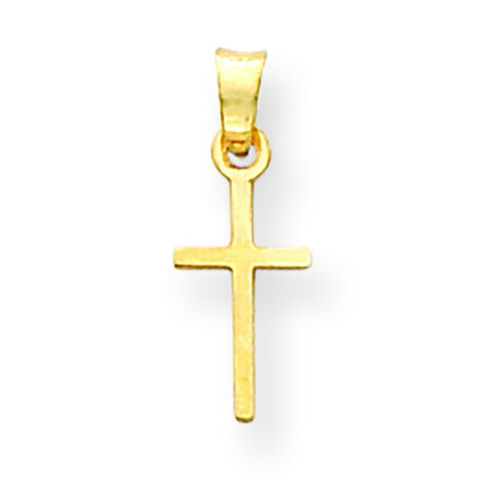 14K Yellow Gold Latin Cross Charm Pendant MSRP $46