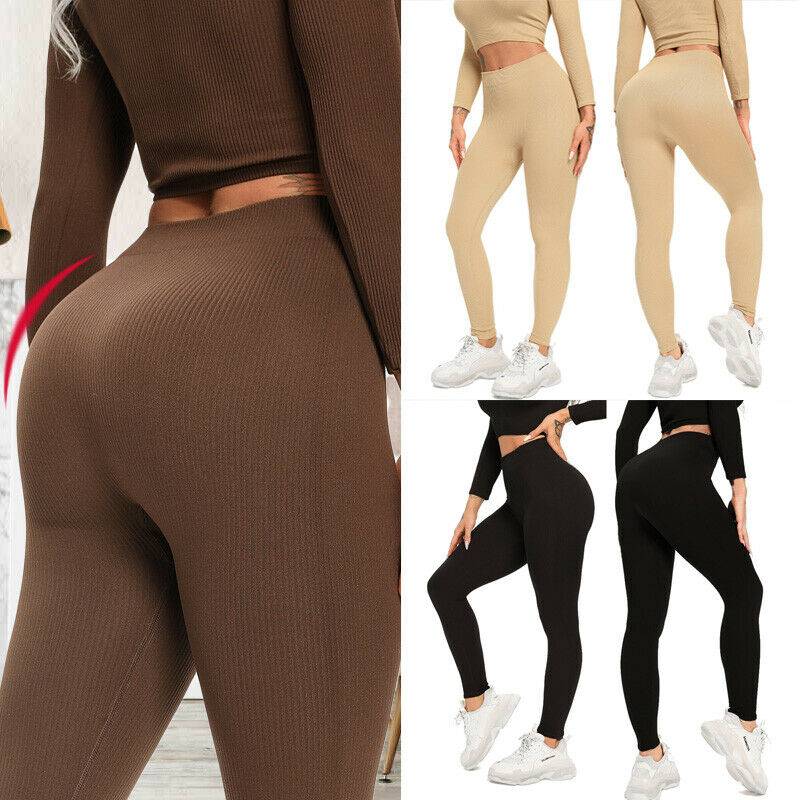 Womens High Waist Vital Seamless Gym Leggings Fitness Sports Workout Yoga Pants