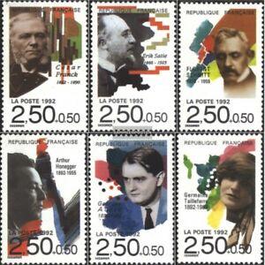 Frankreich-2892-2897-kompl-Ausg-gestempelt-1992-Komponisten