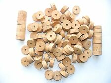 """100 CORK RINGS OVERSTOCK FLOR 11/4""""X1/2"""" BORE 1/4""""  ---- FREE SHIP"""
