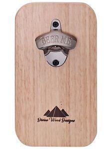Tasmanian-Oak-Fridge-Magnet-Beer-Bottle-Top-Opener-Wall-Mounted-Christmas-Gift