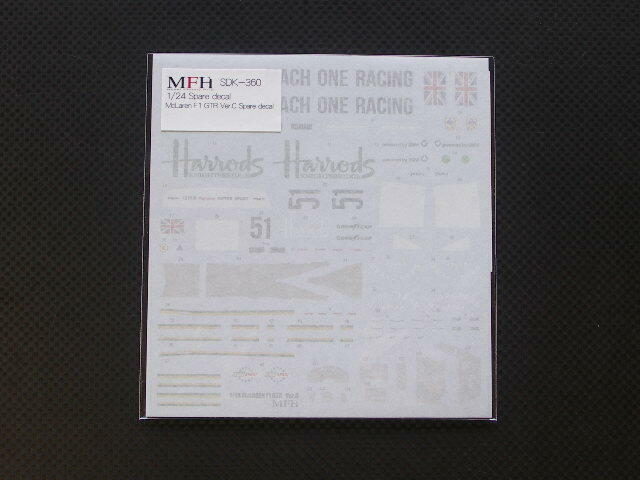 Mfh Model Factory Hiro 1/24 Mclaren F1 GTR Ver.c di Ricambio Adesivi SDK-360 da