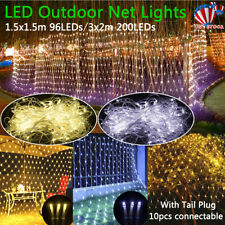 1.5*1.5//3*2M LED String Fairy Net Lights Curtain Mesh Waterproof Christmas Tree