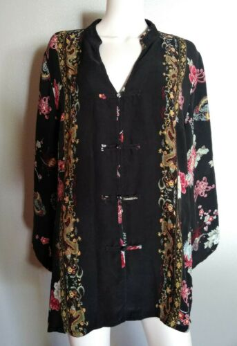 Citron Santa Monica Top Blouse Size 2X Black Flora