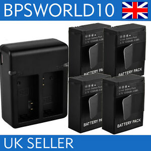 4xDecoded-Battery-USB-Charger-For-Gopro-AHDBT-401-Hero-4-Hero4-New-UK-Local