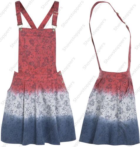 Size 8 10 12 14 NEW LATZHOSE JEANSKLEID Damen Latzhose Kinderkittel