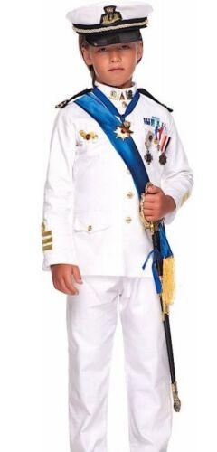 Italian Made Chicos Marinero De Lujo Oficial de la Armada vestido de fantasía Traje de Disfraz 3-12yrs