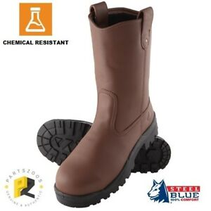 8f961db140a Steel Blue Heeler 200J Toecap Chemical Resistant Safety Rigger Boots ...