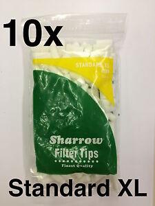 10-Sharrow-Estandar-XL-Filtro-Puntas-10-Paquetes-X-200-Consejos-Nuevo-8mm
