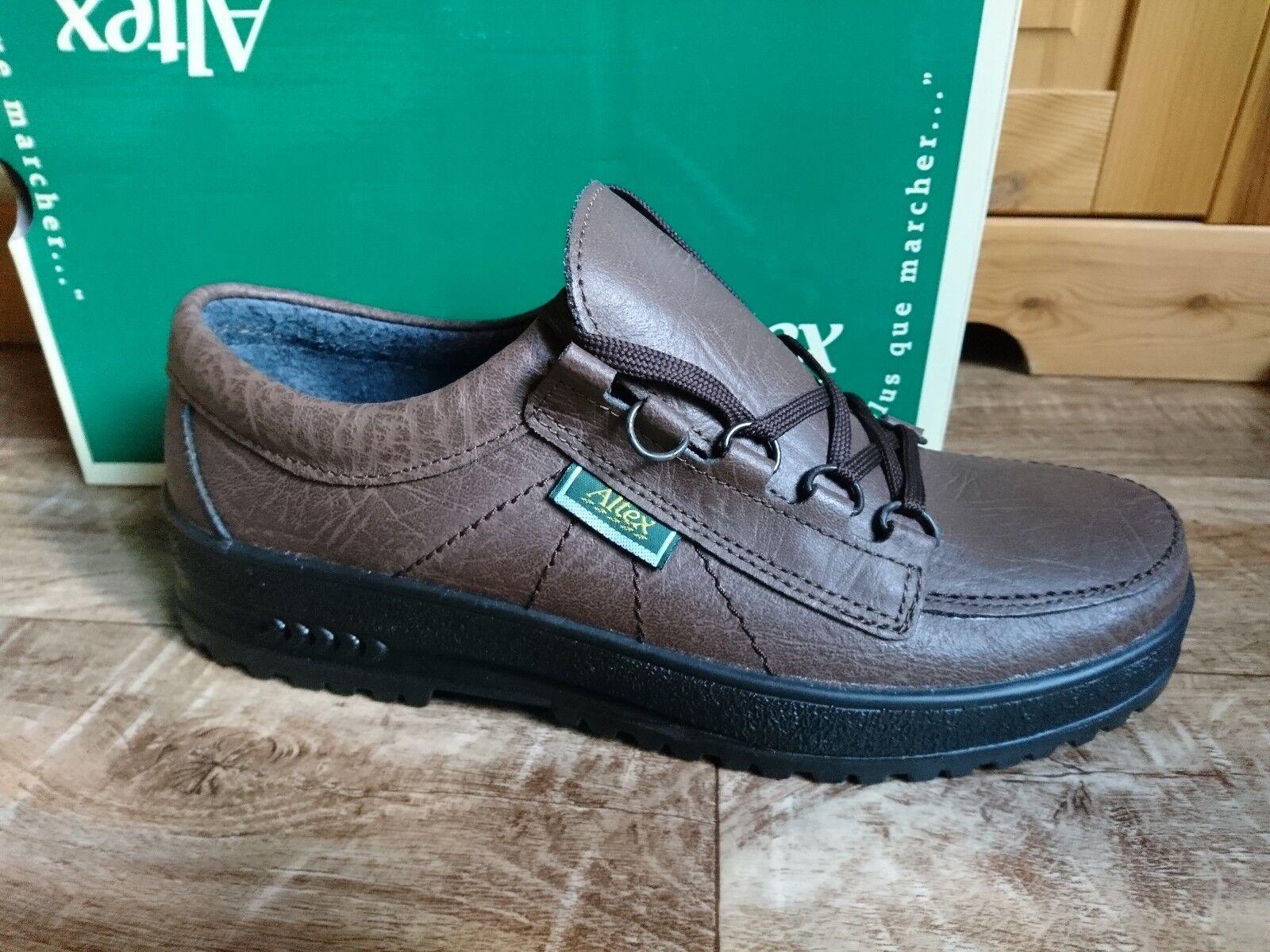 Altex Herren Schuhe Schnürhalbschuhe Leder  Braun  NEU