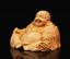 Chinese-Box-wood-Hand-Carving-Buddhism-Happy-Laugh-Maitreya-Buddha-Wealth-Statue thumbnail 2