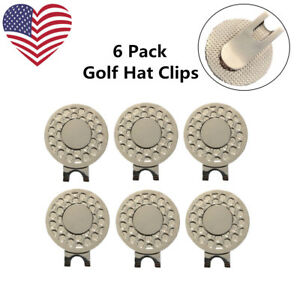 Golf-Magnetic-Hat-amp-Visor-Clip-Fit-Any-Ball-Marker-Lightweight-Metal-6-Pack-New