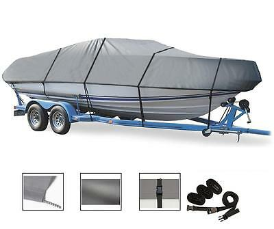Charcoal Fits 17ft-19ftx102inW Center Console Boats StormPro H-Duty Boat Cover