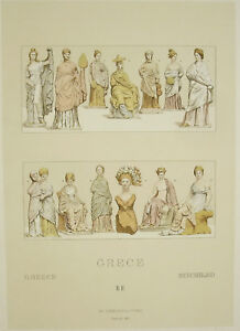 Suits-Traditional-Greece-Antique-Carred-Del-Firmin-Didot-c1888-Lithography