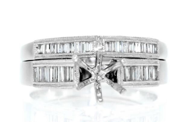 In Quality Loyal Certified 3 Ct Round Cut Diamond Halo Bridal Set Engagement Ring 14k White Gold Superior