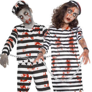 Zombie Halloween Costumes For Toddlers.Details About Zombie Convict Kids Fancy Dress Dead Prisoner Boys Girls Child Halloween Costume