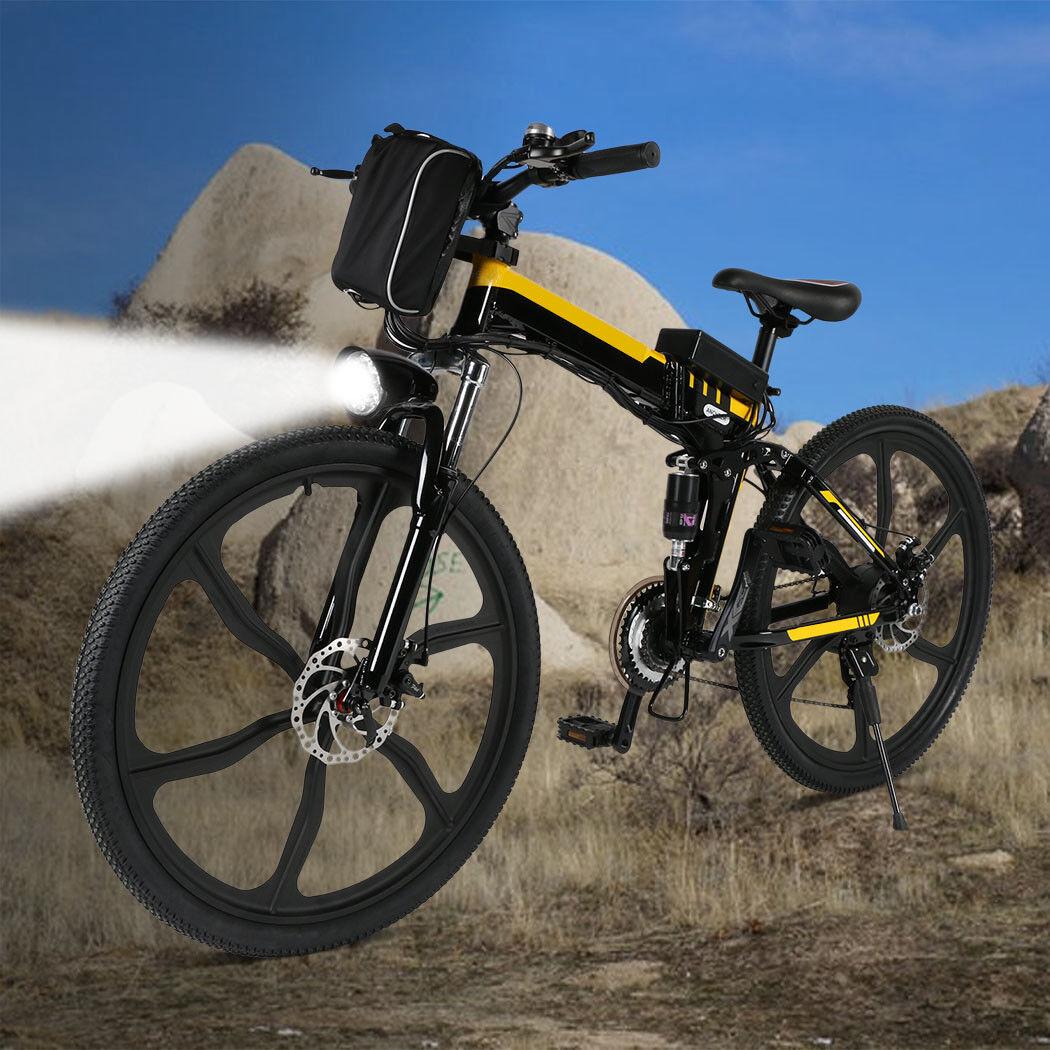 Ancheer 26  Folding 36V Electric Mountain Bike,27 speed E-Bike Men Wemen 30km h