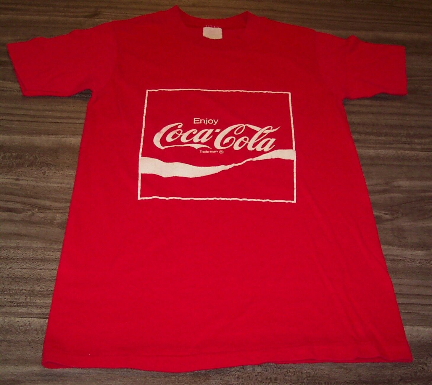 VINTAGE 1970's COCA-COLA Have a Coke and Smile T-Shirt SMALL PETITE