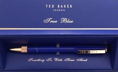 TED BAKER ELECTRIC BLUE SAPPHIRE BALLPOINT PEN NEW GIFT BOXED