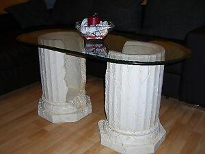Ovaler glastisch couchtisch steintisch fossil - Ovaler glastisch ...
