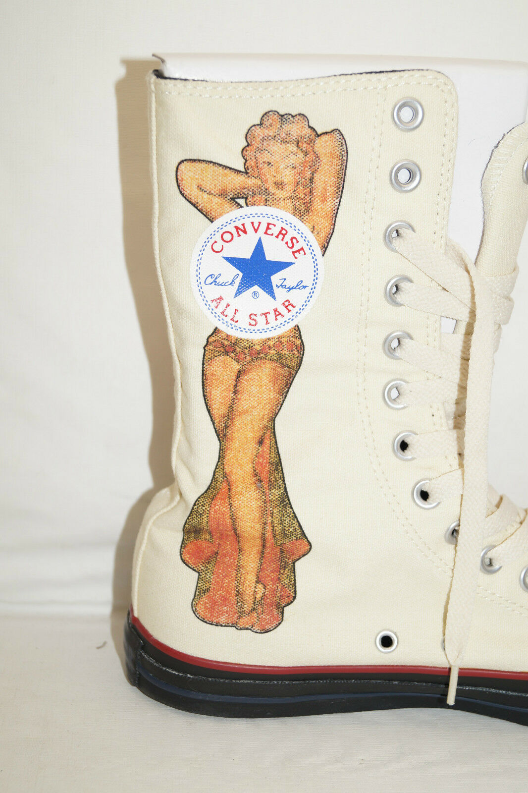 Converse Chuck Chuck Chuck All Star High taille 39,5 uk.6, 5 Sailor Jerry Death or Glory Pinup 6acd53