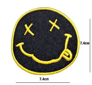 NIRVANA PATCHES ROCK MUSIC BAND IRON OR SEW ON EMBROIDERED APPLIQUE LOGO