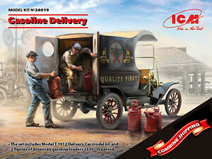 ICM-24019-Model-T-1912-Delivery-Car-with-American-Gasoline-Loaders-1-24