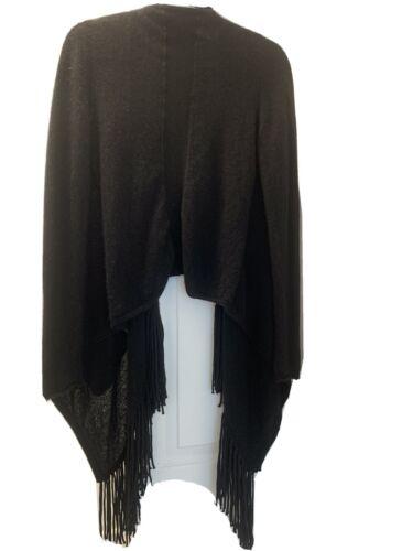 360 cashmere fringe sweater cardigan