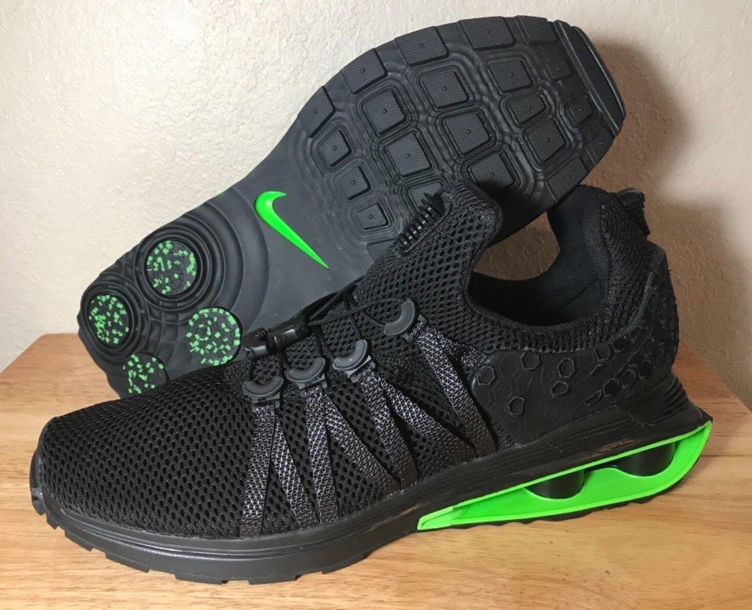 Nike Shox Gravity Luxe Black Green Strike Mens Running shoes SZ New AR1470-003