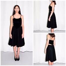COMME DES GARCONS H&M Black Velvet Dress Corset 8/36 Avant Garde Rei Kawakubo
