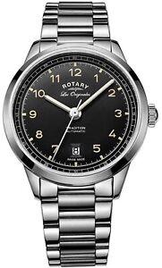 Orologio-Rotary-Tradition-Automatico-Sellita-SW200-Acciaio-Nero-GB90184-19