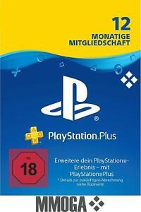 PlayStation Plus Mitgliedschaft 12 Monate 365 Tage PSN 1 Jahr Code PS4 PS3 - DE