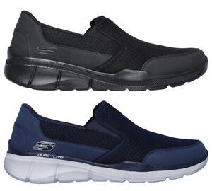 SKECHERS-52984-EQUALIZER-3-BLUEGATE-Memory-scarpe-uomo-sportive-sneakers-tessuto