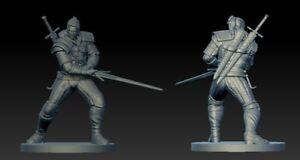 Geralt de Rivia THE WITCHER ZOMBICIDE MINIATURE!!! FAN MADE!!!! PDF CARDS